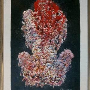 Bak ryggen malet av Bjørn Reitan