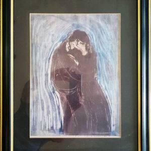 The kiss av Munch